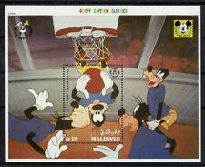 DISNEY BASKETBALL Maldives 1 bloc de 1992 **