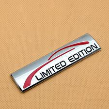 New Chrome LIMITED EDITION Rear Trunk 3D Badge Side Fender Sport Emblem Sticker