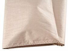 LUXURY FAUX SILK CAMOMILE BEIGE GOLD WEIGHTED SHOWER CURTAIN & RINGS 180 X 180CM