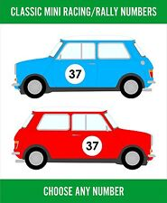 Custom Classic Mini Decal Kit Cooper Racing Rally Number Vinyl Graphics NEW