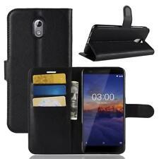 Nokia 3.1 2018 Custodia a Portafoglio Protettiva Cover wallet Case Nero