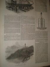 Irish sea mail steamer The Banshee & Trevose Head Lighthouse 1847 prints AW