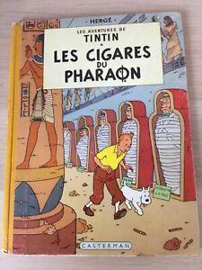 Les aventures de Tintin Les Cigares du pharaon EO couleurs 1955 TBE