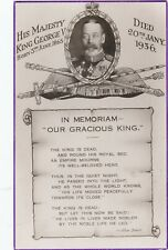 In Memoriam - Our Gracious King George V, Valentine's Postcard