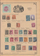 Chile classical period with COLONS scarce stamp collection part 1853-1912 used