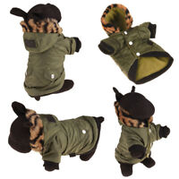 Puppy Pet Dog Cat Clothes Hoodie Winter Warm Sweater Jacket Coat Costume Apparel
