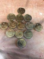 1) Israel Coin - 10 Agorot Coin NIS - New Israeli Shekel - 2006 - World Coin