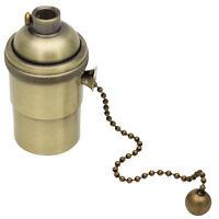 E27 Lampenfassung Kupfer Vintage mit Pull Kette für DIY Edison Hängelampe Bronz