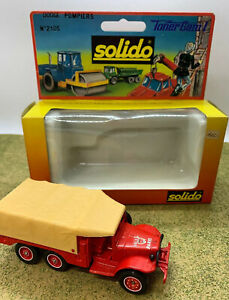 SOLIDO TONER GAM I Dodge Pompiers No. 2105 Metal Diecast Vehicle 6 X 6 T223 WC63