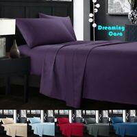 4 Piece Bedroom hotel Bed Sheet Set 1500 Thread Count Luxury Comfort Deep Pocket