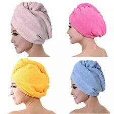 Hair Towel Wrap Turban Spa Bath Head Dry Microfiber Soft Twist Women Makeup Cap