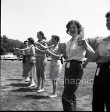 Women Men & PAL Ade Orange Soda Pop Outdoors 3 Vintage 1950s Negative Photos