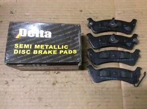 New Delta Semi Metallic Disc Brake Pad Pads Rear 762-D666