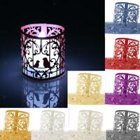 6pcs Love Birds Heart Paper LED Tea Light Holders Wedding Decor