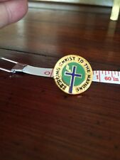 BRINGING CHRIST TO THE NATIONS Lapel Pin Tie Tack Religious Church Jesus Christ