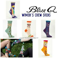 Blue Q Women's Crew Socks ❤️ Size 5-10--Best Holiday Gift Ever! Buy 2 & Save!