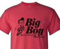 Big Boy Diner T-shirt retro 1980's distressed logo heather red 50/50 graphic tee