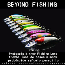 Lot 10pcs Fishing Lures Minnow Crankbait Bass Hard Baits Fishing Tackle Hooks
