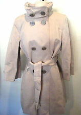 ELIE TAHARI BEIGE COTTON/ POLYESTER TRENCH COAT SIZE L ,NWT RETAIL $315