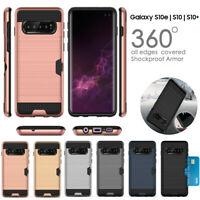 Credit Card ShockProof Tough Case For Samsung Galaxy S8 S9 S10 5G S10 Plus
