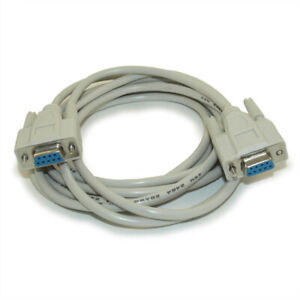10ft Serial DB9/DB9 Straight-thru RS232 Female to Female Cable