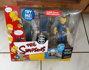 The Simpsons Intelli-Tronic Playset Police Station boxed playmates 2001