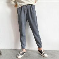 Women Harem Sport Pants Jogger Trousers Drawstring Sweatpants Tapered Leisurely