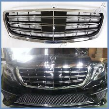 Fit 14 15 16 M-BENZ W222 S400 S550 S600 4DR New S65 Look Front Replaced Grille