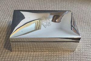 Sterling Silver Art Deco Cigarette Box.Cedar Lined.Boyton &Sons.London 1919.443g
