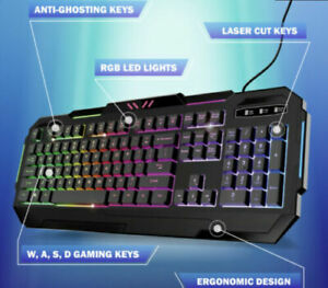 World Cup Bugha exclusive LED gaming keyboard for PC| Limited Quantity Free ship