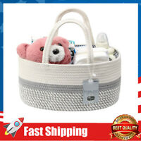 Baby Diaper Caddy Organizer,Cotton Pure-Handmade Rope Nursery Storage Bin