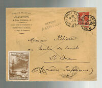 1910 Nantes France Early airmail cover Local Issue Air Stamp Aviation