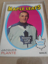 1971-72 O Pee Chee Hockey Vintage Card of Jacques Plante #195