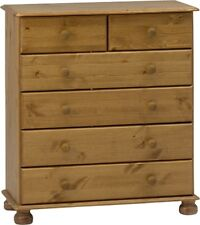 Richmond pine 2+4 drawer bedroom solid chunky antique furniture chest of drawers