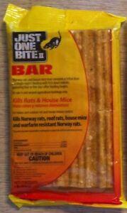 Just One Bite Bar & rat bait pellets pks Kill rats mice rodents squirrels New