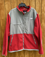 Vintage The North Face Denali Red Gray Fleece Full Zip Jacket 90s Mens Size XL