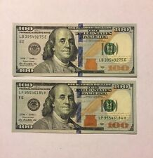 $100 Dollar Bill, Fed Reserve Note, Series 2009 - 2013. Fast Shipping!