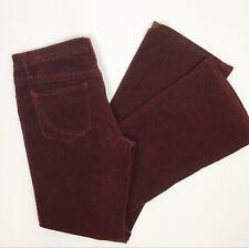 Paper Denim & Cloth Womens Corduroy Low Rise Bootcut Pants Bridgette Rust