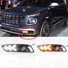 2pcs LED DRL Daytime Running Light Front Fog Lights Fit For Hyundai Venue 2020