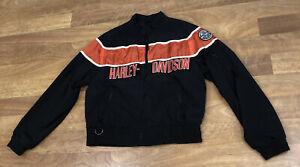 Vintage Harley Davidson Racing Bomber Windbreaker Jacket Men's Size L