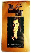 The Godfather Part Iii (Vhs, 1997, 2-Tape Set) Brand New and factory sealed