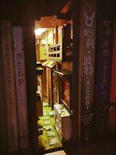 DIY Japanese Street Book Nook - Alley Shelf Insert - Bookcase with Light