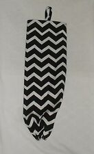 Homemade Fabric Plastic Grocery Bag Holder Chevron Design