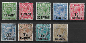 British Levant GV selection used / mounted mint