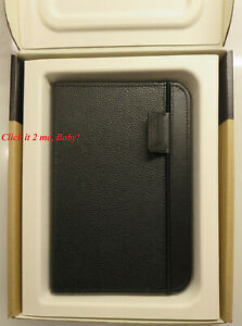 Brand NEW Amazon Leather Case for Kindle Keyboard eBook Reader Black strap