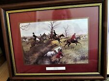 """FOX HUNTING PRINT FULL CRY  FRAMED MATTED 19""""x15"""" GEORGE WRIGHT"""