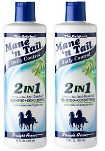 Mane n' Tail Daily Control 2in1 Shampoo + Conditioner - 355ml Pack of 2