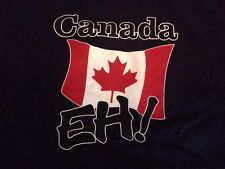 Canada Eh! Flag XL T-shirt Mens Tee Blue Piel Ruby Tee