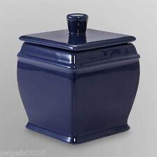 Cannon Ceramic Covered Bathroom Jar - Navy Blue