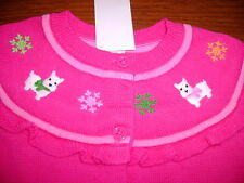 NWT Gymboree Cheery all the way scottie dog sweater cardigan yoked holiday 4t